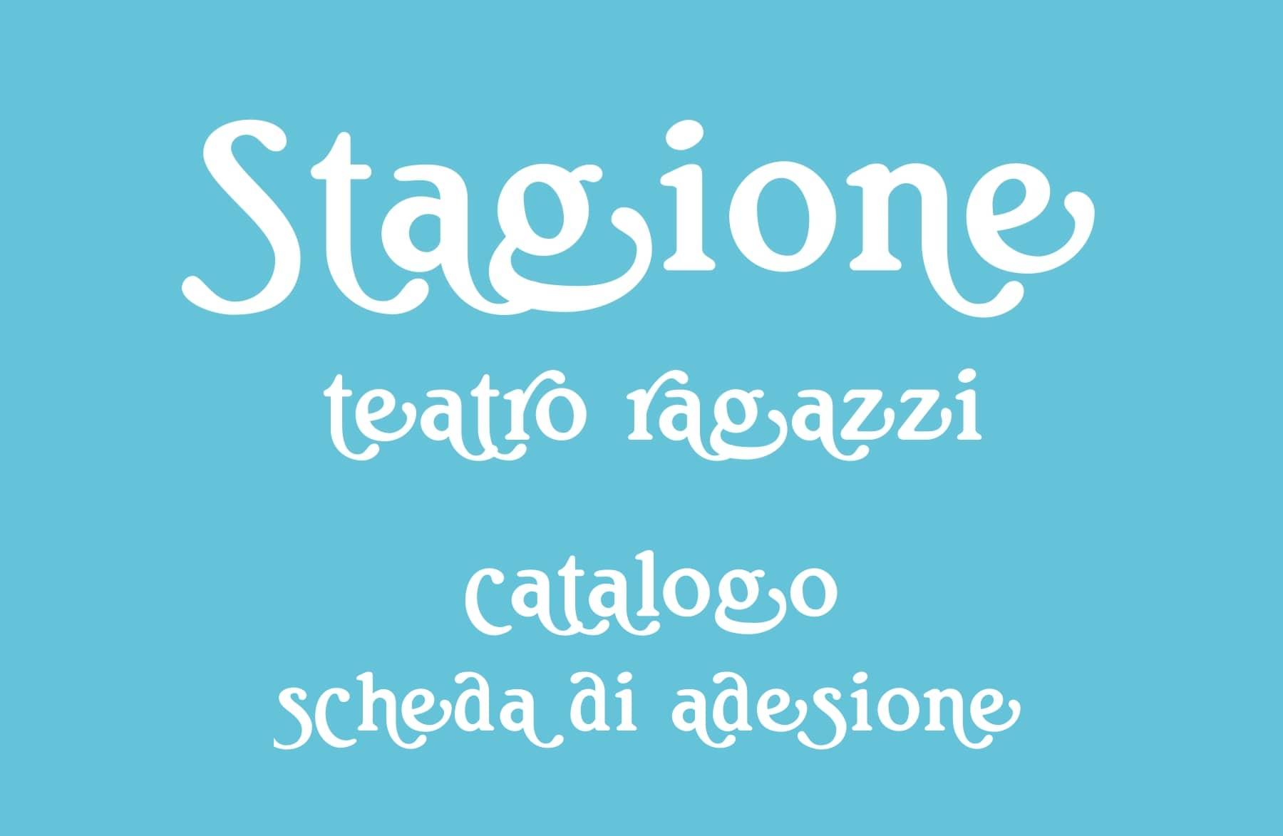 Catalogo Stagione Teatro Ragazzi